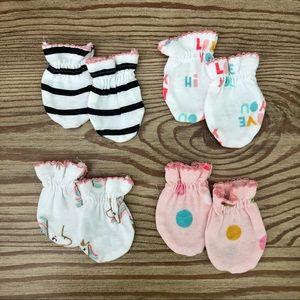 Newborn Mittens, Set of 4